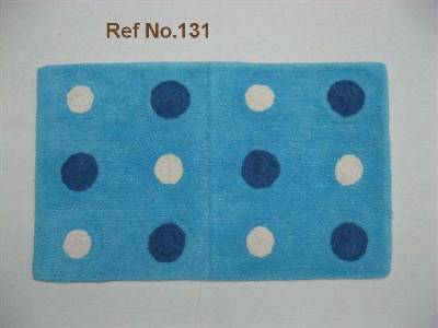 Dot printed floor mats manufacturers India, cotton terry fabric bath mats wholesale suppliers in India,