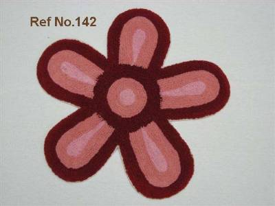 Flower shaped bath mats supplied in cotton terry fabric made from our factory in erode in India.