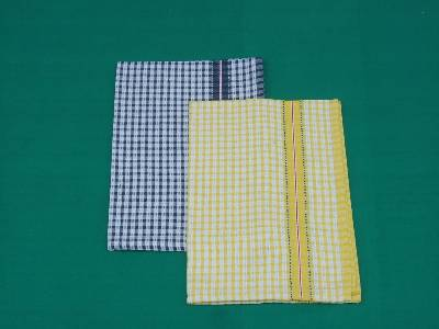 Wholesale manufacturers of cotton tea towels using yarn dyed fabric made from our factory in karur in India.