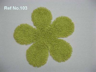 Indian manufacturer supplier for floor shaped green bath mat supplied from our manufacturing facility in erode in tamilnadu.