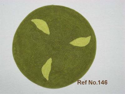 Green colored floor bat mats floor coverings manufactured supplied in wholesale from our factories in India.