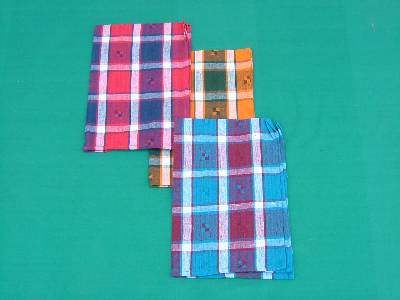Checked fabric cotton towels sets wholesale suppliers based in erode with factories in karur in tamilnadu in India.