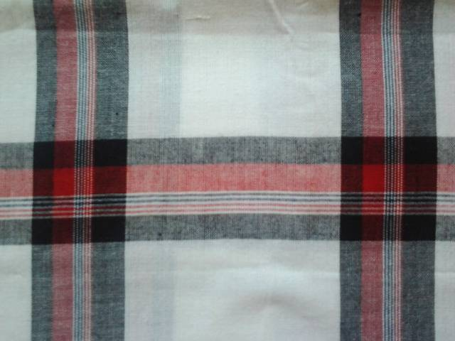 Manufacturers of 2/60x40 72x64 yarn dyed fabric supplied from our factories in erode in india.
