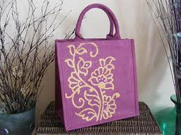 Dyed, printed, beautiful jute tote bags manufacturers suppliers in wholesale based in erode in India.