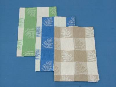 Correctly priced organic cotton dish towel set supplied in wholesale from our factory in erode in India.