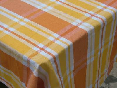 Tablecloth and napkins supplied in wholesale using best quality yarn dyed cotton fabric from our factories in karur in India.