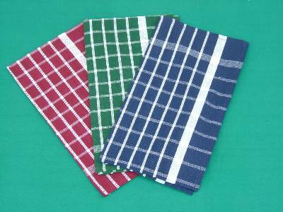 Tea dish towels in dyed cotton fabric manufactured supplied in wholesale in our factories in madurai in India.