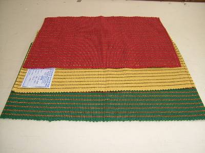 Multi colored placemats sets manufactured in wholesale from our factories in tamilnadu in India.