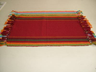 Multi-colored placemats manufactured in wholesale from our factories in karur near erode in India.