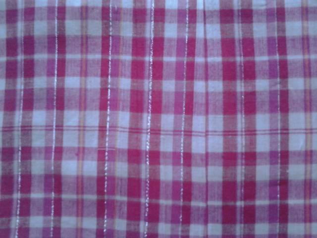 Suppliers of 2/40x20 lurex yarn dyed cotton fabric cloth manufactured in our factories in erode in coimbatore in tamil nadu in south india.