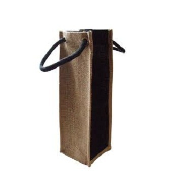 Manufacturers of wholesale Jute wine bags, which can be made in different sizes and in different colours.