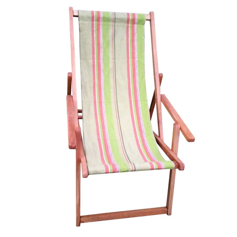 Wooden beach sturdy chairs supplied from our factories in chennai in india. Our chairs are made using best quality canvas fabric.