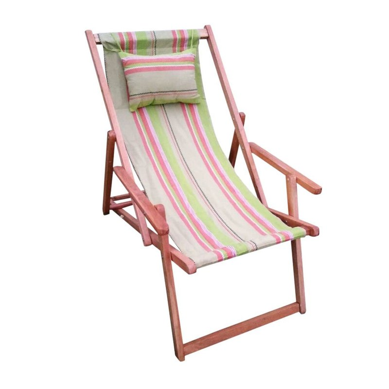 Best wooden deck chair made from our Indian factories in wholesale using canvas fabric and sheeting fabric.